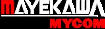 MAYEKAWA white logo