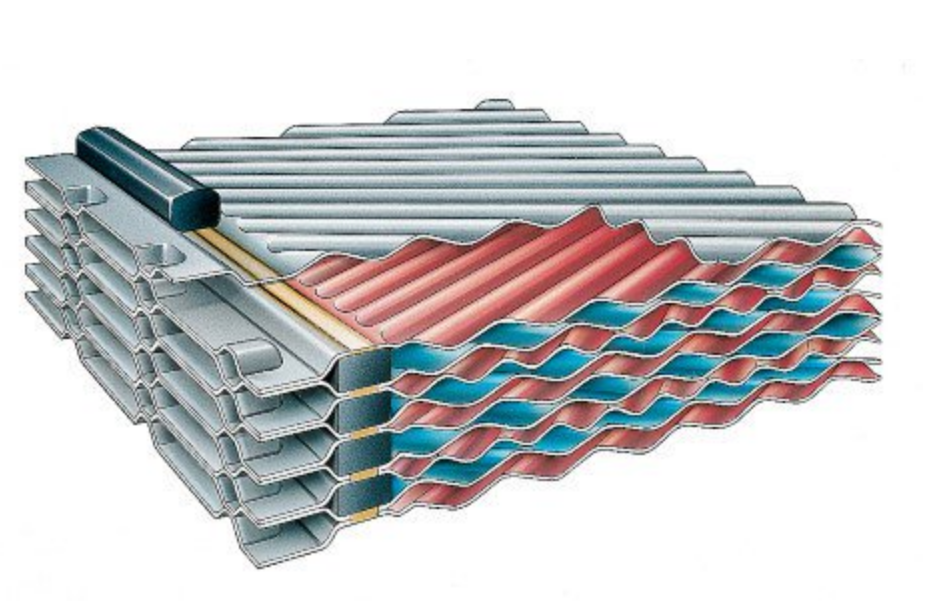 semi welded plate heat exchanger diagram