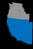 west coast territory map